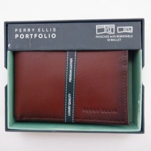 Perry Ellis Portfolio Genuine Leather Wallet